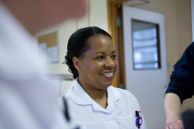 Nurse in white uniform