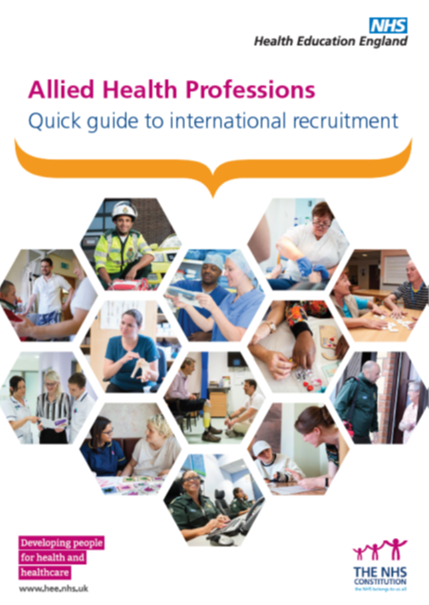 Cover of the AHP quick guide to international recruitment