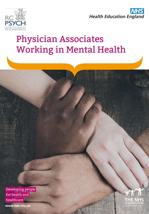 Physician associates in mental health | Health Education ...