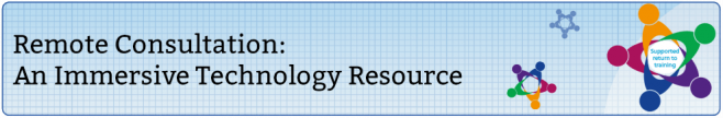 a banner advertising a new resource for remote consultation