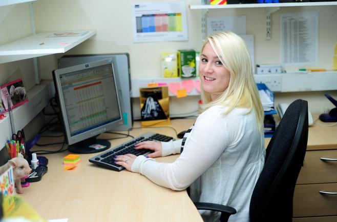 Picture of someone doing work experience