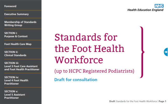 Consultation for draft Standards for the Foot Health ...